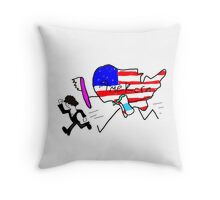 """where's metyy"" Throw Pillow"