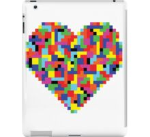 Colorful Tetris Heart iPad Case/Skin