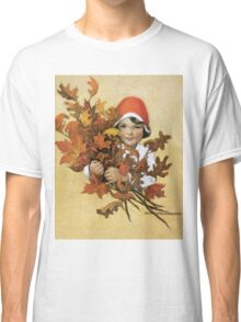 Jessie Willcox Smith - Girl With Fall Leaves. Child portrait: cute baby, kid, children, pretty angel, child, kids, lovely family, boys and girls, boy and girl, mom mum mammy mam, childhood Classic T-Shirt