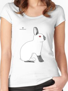 Himalayan Agouti (Chinchilla) Rabbit Women's Fitted Scoop T-Shirt