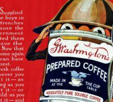 Washington Coffee Can Soldier WWI Sticker