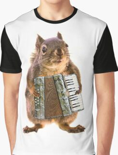 Squirrel Playing an Accordion Graphic T-Shirt