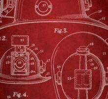 Firefighter Helmet Patent 1965 Sticker