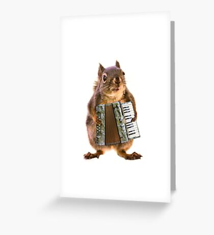 Squirrel Playing an Accordion Greeting Card