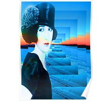 Top hat with snow Poster