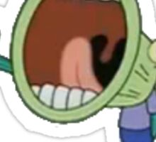 hoopla fish from spongebob Sticker