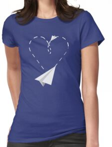 Paper planes in the Sky Womens Fitted T-Shirt