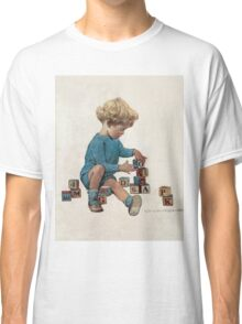 Jessie Willcox Smith - Little Boy Playing With Blocks. Child portrait: cute baby, kid, children, pretty angel, child, kids, lovely family, boys and girls, boy and girl, mom mum mammy mam, childhood Classic T-Shirt