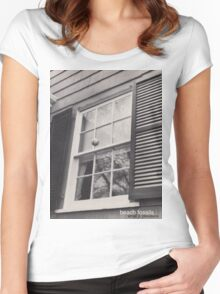 Beach Fossils  Women's Fitted Scoop T-Shirt
