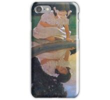 Jessie Willcox Smith - Looking At The Moon S Reflection. Child portrait: cute baby, kid, children, pretty angel, child, kids, lovely family, boys and girls, boy and girl, mom mum mammy mam, childhood iPhone Case/Skin