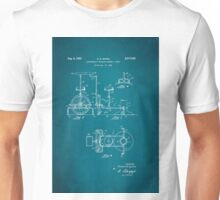 Barber Swinging Chair Patent 1950 Unisex T-Shirt