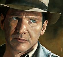 Harrison Ford - Indiana Jones by smportraits
