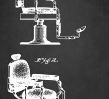 BARBER'S CHAIR PATENT 1910 Sticker