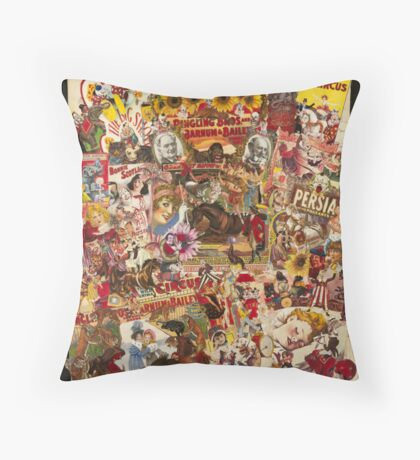 Vintage Circus Throw Pillow