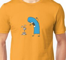 The monster and the rabbit Unisex T-Shirt