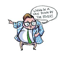 Living in a Van DOWN BY THE RIVER! Photographic Print