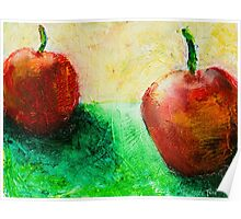 Fresh Fruit Painting Poster