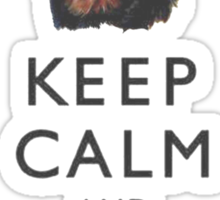 Keep Calm And Hug Your Rottweiler Sticker