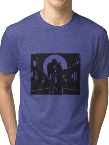 full moon liebespaar city Tri-blend T-Shirt