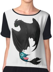 Toothless and Stitch Chiffon Top