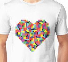 Colorful Tetris Heart Unisex T-Shirt