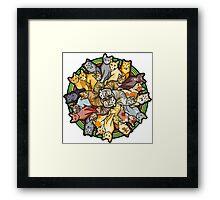 Cat Lovers Mandala Framed Print