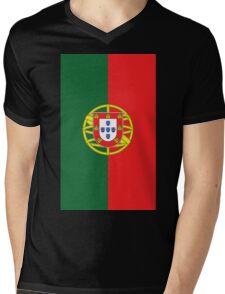 Portugal Flag Mens V-Neck T-Shirt