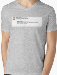 "Hillary's ""Delete your account."" Tweet Mens V-Neck T-Shirt"