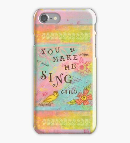 You Make My Heart Sing--Affirmations From Abba iPhone Case/Skin