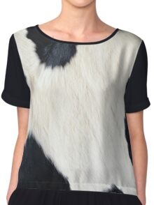 Cowhide Black and white Chiffon Top