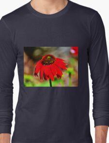 Salsa Red Coneflower Long Sleeve T-Shirt