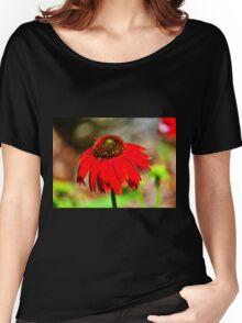 Salsa Red Coneflower Women's Relaxed Fit T-Shirt