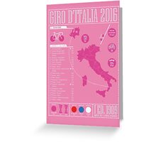 Giro d'Italia 2016 Greeting Card