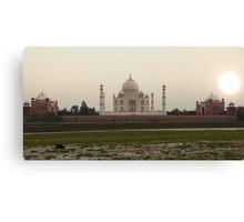 Taj Mahal at Sunset Canvas Print