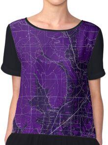 USGS TOPO Map Alabama AL Doran Cove 303696 1936 24000 Inverted Women's Chiffon Top