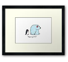 They're on your head Framed Print