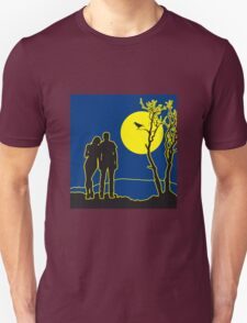full moon love couple romance love love Unisex T-Shirt