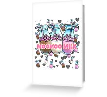 Moo Milk   Greeting Card