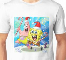 SPONGEBOB PATRICK happy christmas Unisex T-Shirt