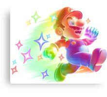 Super Mario Star Man Canvas Print
