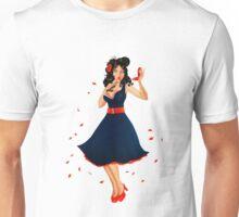 Retro Pinup Autumn Girl Unisex T-Shirt