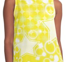 Colorful Yellow Star Pattern Contrast Tank