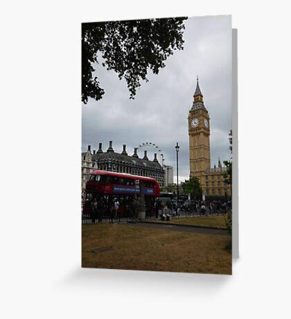London Sightseeing Greeting Card