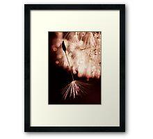 raspberry and mocha Framed Print