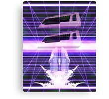 Commodore Dolphin Vaporwave Inspired Design Canvas Print