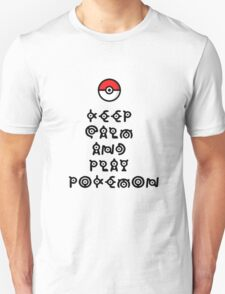 Pokemon - Keep Calm and Play Pokemon Unisex T-Shirt
