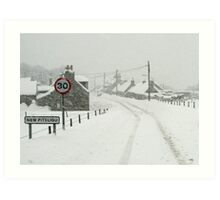 Winter in New Pitsligo Art Print
