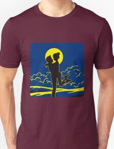 full moon love couple romance love Unisex T-Shirt