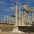 Temple of Trajan in Pergamon by Jens Helmstedt