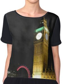 London at Night Chiffon Top